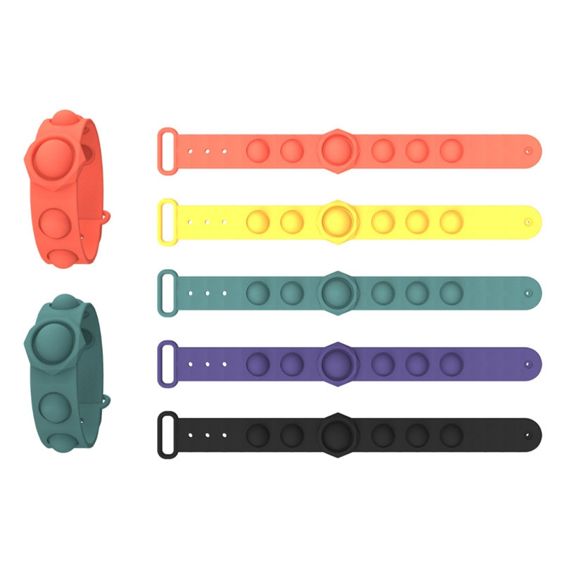 Push Bubble Sensory Wristband Toy Autism Needs Squishy Stress Reliever Toys Adult Funny Anti-stress Fidget Toy Child Gifts enlarge