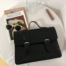 Ins Harajuku-sac épaule vintage japonais, sac chic simple, nouvelle mode coréenne solide, grande capacité, sac à épaule pour femmes, collection décontracté