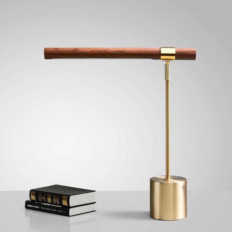 2021 New Indoor Lighting Adjustable Led Table Lamp Bedroom Bedside Led Light Nordic Lighting Fashionable Wooden Table Light
