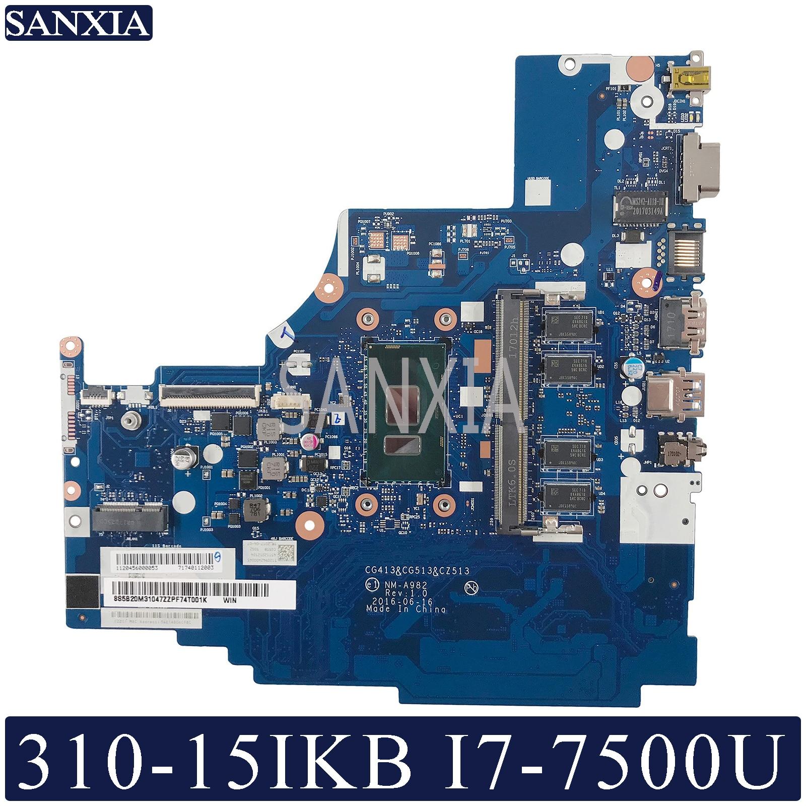 KEFU NM-A982 اللوحة المحمول لينوفو 310-15IKB اللوحة الأصلية 4G-RAM I7-7500U