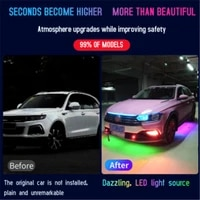 car chassis lights streamer led ambient light rgb app remote control auto decorative atmosphere neon backlight lamp strip 12v