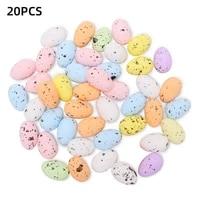 20pcs easter eggs foam bright color artificial bird pigeon egg home party favor decor christmas decor garland decoration crafts