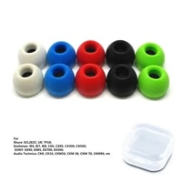 3 pairs ts400 ear pad 4 9mm l m s memory foam ear tips for tws in ear earphones soft and easy to replace earmuffs ear tips