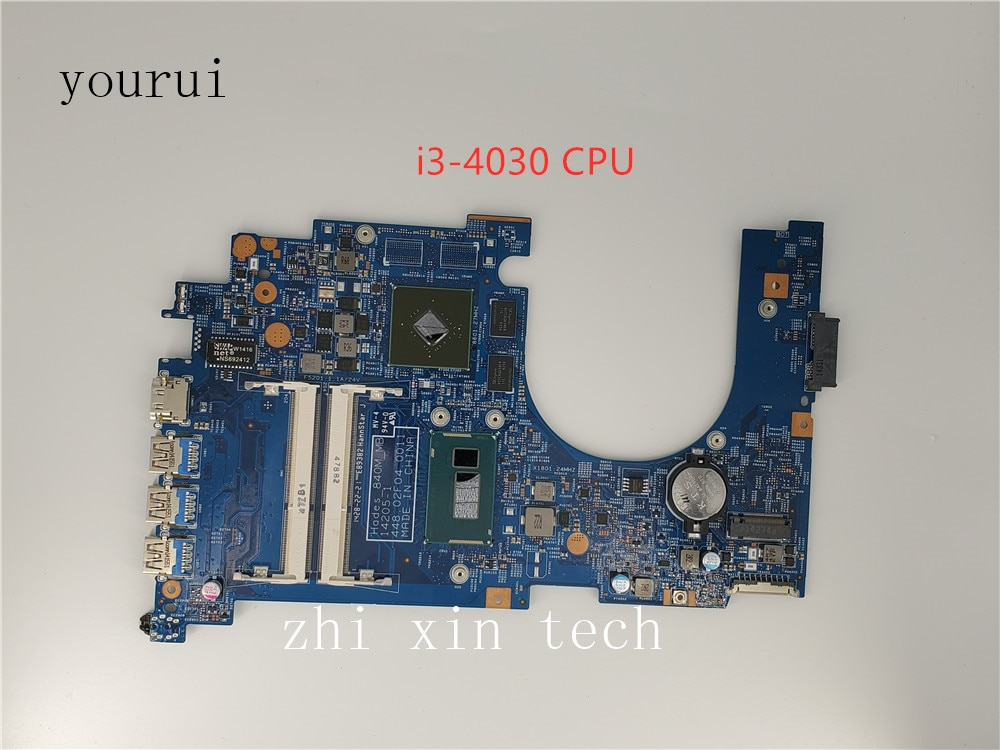 Yourui NB.MQK11.003 لشركة أيسر أسباير VN7-571 أجهزة الكمبيوتر المحمول 448.02F04.0011 NBMQK11003 SR1EN i3-4030u وحدة المعالجة المركزية 100% اختبار موافق