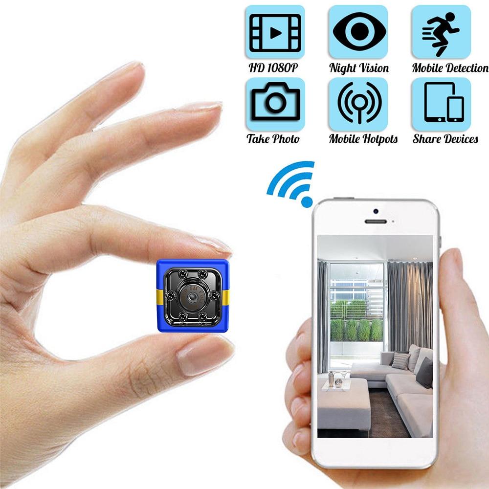 SQ11 actualizado FX01 Mini cámara HD 1080P infrarrojo IR videocámara coche DVR Cam grabador de vídeo infrarrojo cámara Digital deportiva