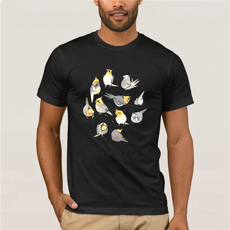 Caliente de los hombres diversión casual impresión T camisa marca Cockatiel s a diario para hacer una lista de nuevos casuales de los hombres de verano de moda de impresión T camisa