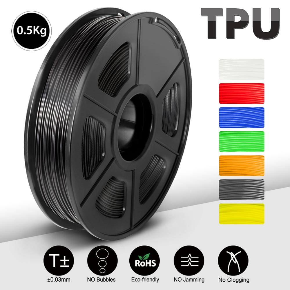 Filamento Flexible de TPU para impresora 3D, blanco y negro, sublimación, espacios en blanco, no tóxico, TPU Flexible para imprimir juguetes y plantillas de zapatos