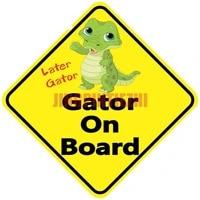 car stickers vinyl motorcycle decal car window body decorative lnterest later gator gator on board warning mark