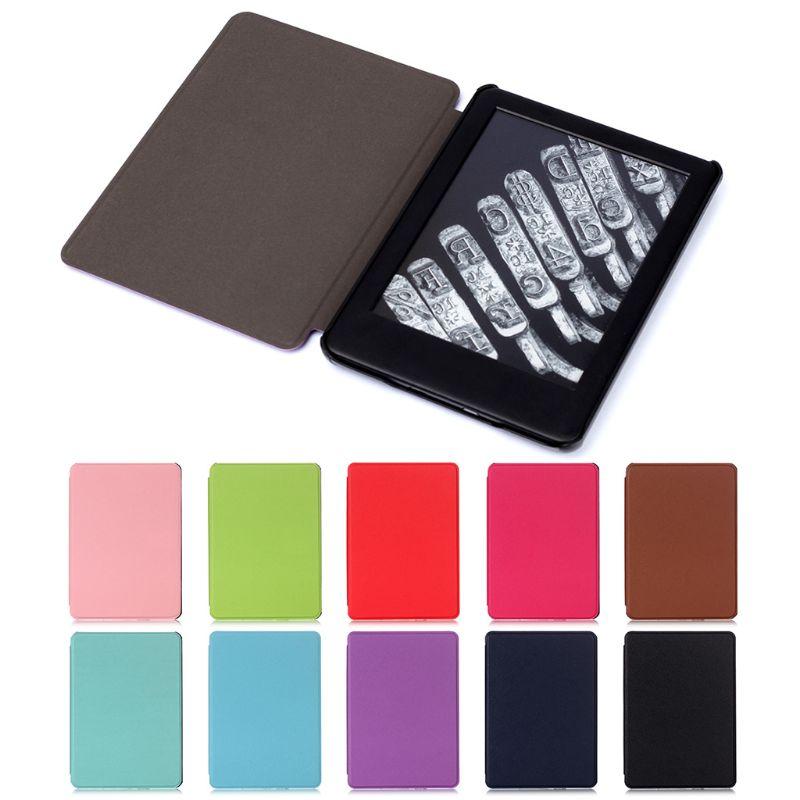 Funda con patrón cruzado ultrafino para E-book, funda magnética de cuero PU con soporte, funda protectora para Amazon All-New Kindle 10. ª generación 2
