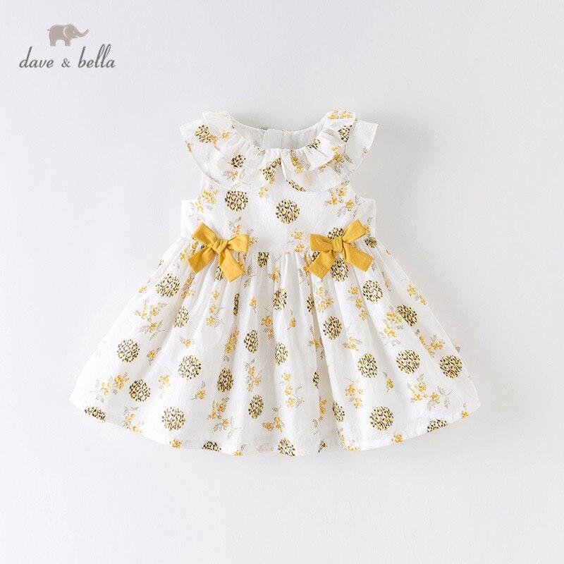 Dave bella/DBM13816 летнее платье для маленьких девочек, платье принцессы на молнии с цветочным принтом и бантом, Детские вечерние платья, детская одежда в стиле Лолита Платья для девочек    АлиЭкспресс