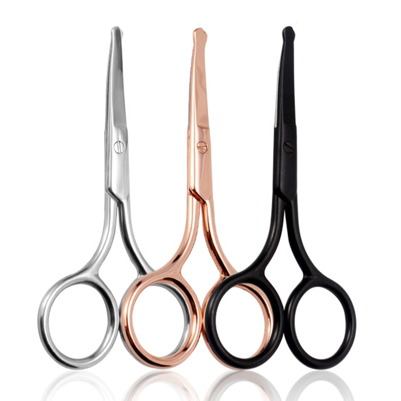 1Pc Nose Scissors Beauty Products Makeup Tool Hair Remover Nail Cuticle Round Tip Scissors Safe Heal