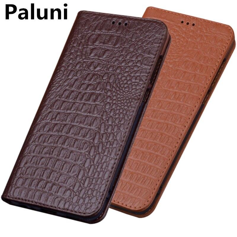 Funda de teléfono con soporte magnético de cuero genuino de negocios para OPPO Realme 5 Pro/Realme 5/Realme 5S/Realme 3 Pro/Realme 3 bolsa de teléfono