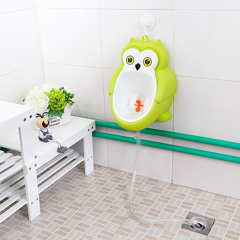 Owl Portable Children Baby Boy Potty Toilet Training No wash Wall-Mounted Kids Boy Penico Pee Potty Stand Vertical Urinal