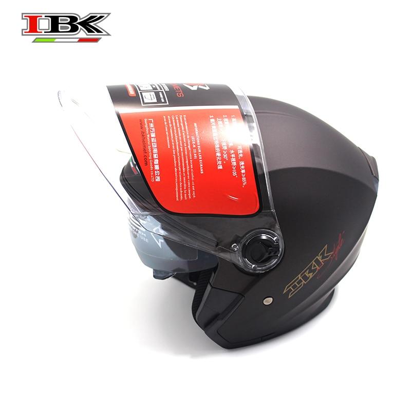 IBK Motorcycle Casco Casque Helmet Electric Bicycle Unisex 3/4 Anti-UV Open Face Double Lens safety matte Helmet IBK-705 enlarge