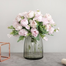7 Heads European Peony Artificial Flowers Wedding Home Decoration Fake Flowers Autumn decoration