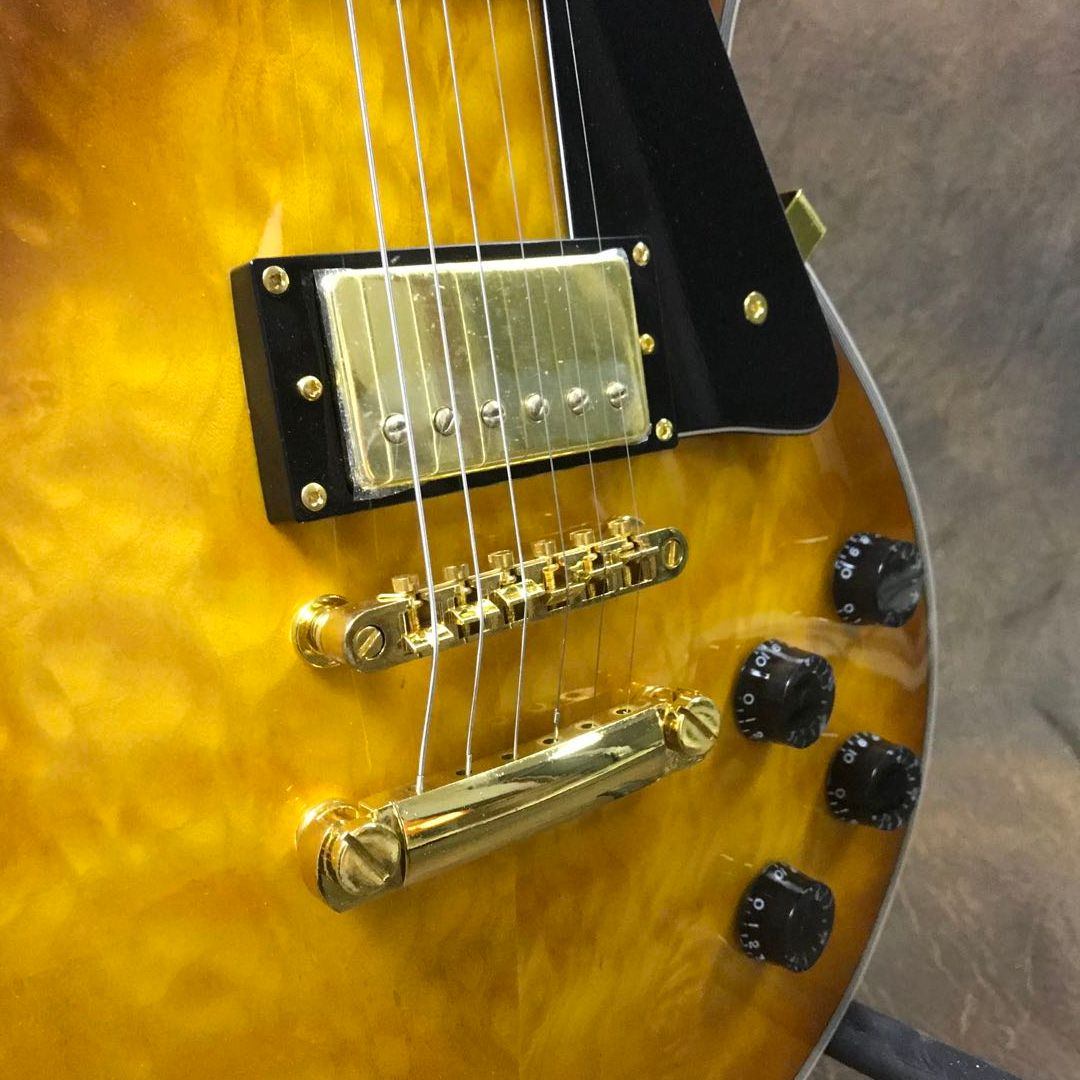 High Quality Quilted mapel top Guitar VOS Version Gold Hardware Free Shipping enlarge