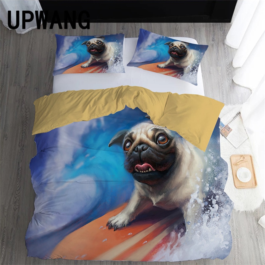 UPWANG 3D Bedding Set Surfing Surfboard Printed Duvet/Quilt Cover Set Bedcloth with Pillowcase Bed Set Home Textiles #CL01