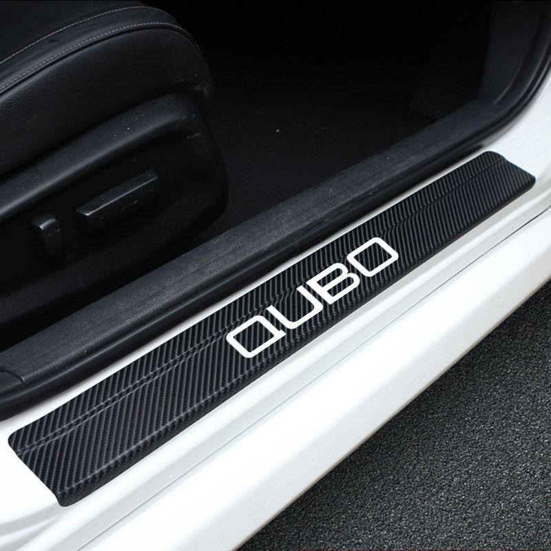 Автомобильный Стикеры s для Fiat Qubo углеродного волокна протектор для укладки волос Стикеры против царапин для автомобиля аксессуары 4 шт.