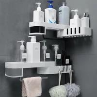 bathroom shelf corner shelves shampoo holder kitchen storage rack mess shower organizer wall holder space saver household items