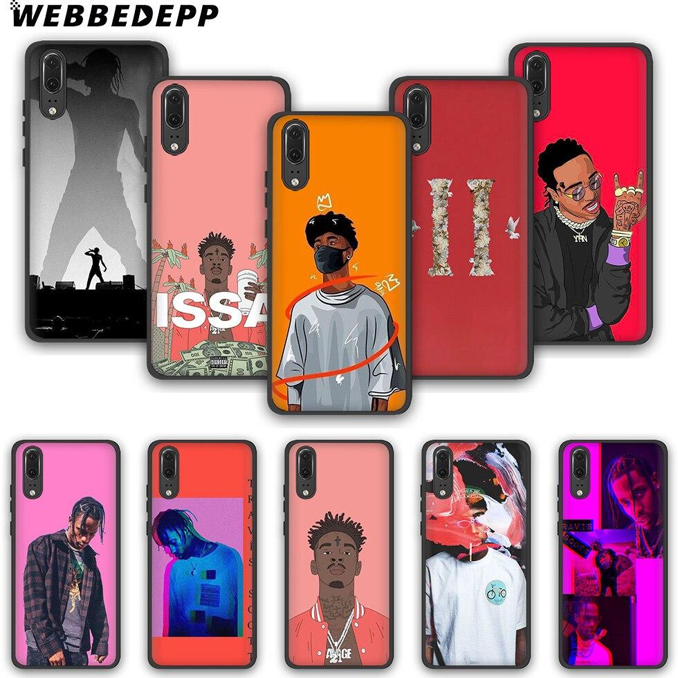WEBBEDEPP Quavo rapero Migos moda suave funda para teléfono para Huawei P10 P20 P30 Lite Pro Y6 Y7 Prime 2018 Y9 2019