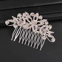 2021 new exquisite fashion hair comb silver hair comb bridal accessories wedding accessories tiara for girls prom gift ornaments