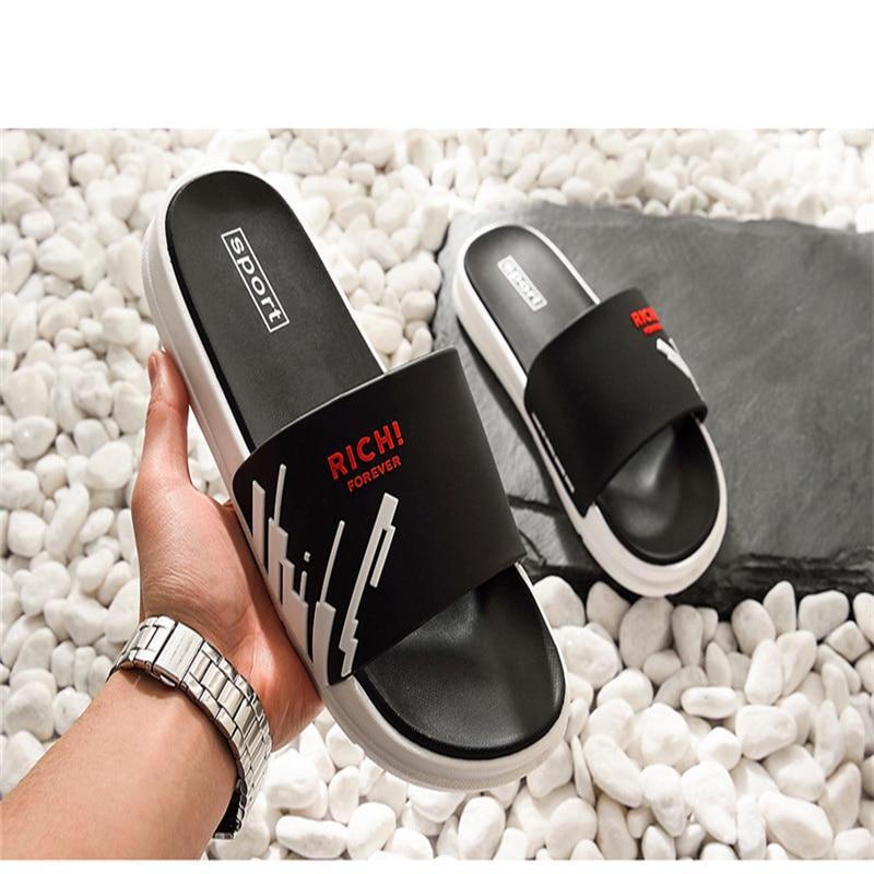 Slippers Men Shoes Summer Unisex Bathroom Slipper Male Couple Beach Sandals Fashion Home Slippers Non-slip Floor Flip Flops