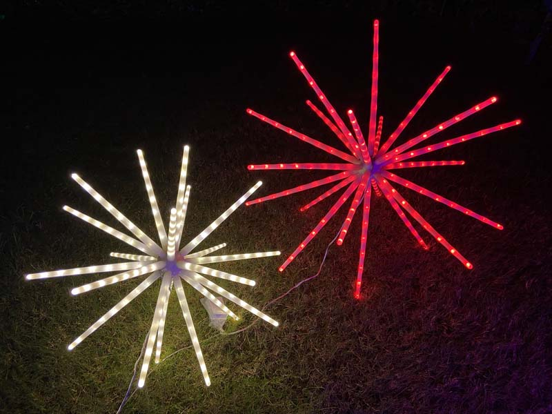 IP65 Waterproof Outdoor Stake Lights Multi-Color Changing LED Firework Landscape Decorative Light for Garden Patio Backyard Lamp enlarge