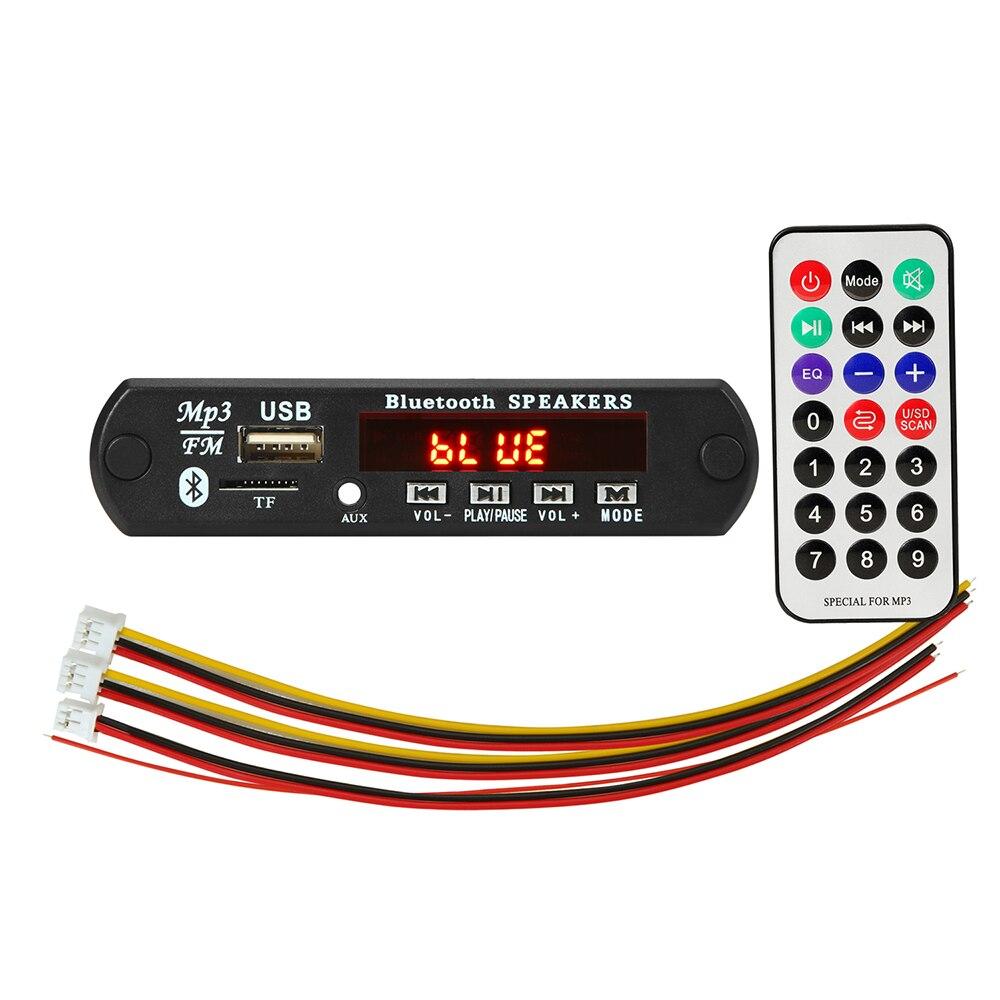 DC 5V/12V Wireless Bluetooth USB FM TF Radio MP3 Decoder Board Module Audio MP3 Player For Car Remot