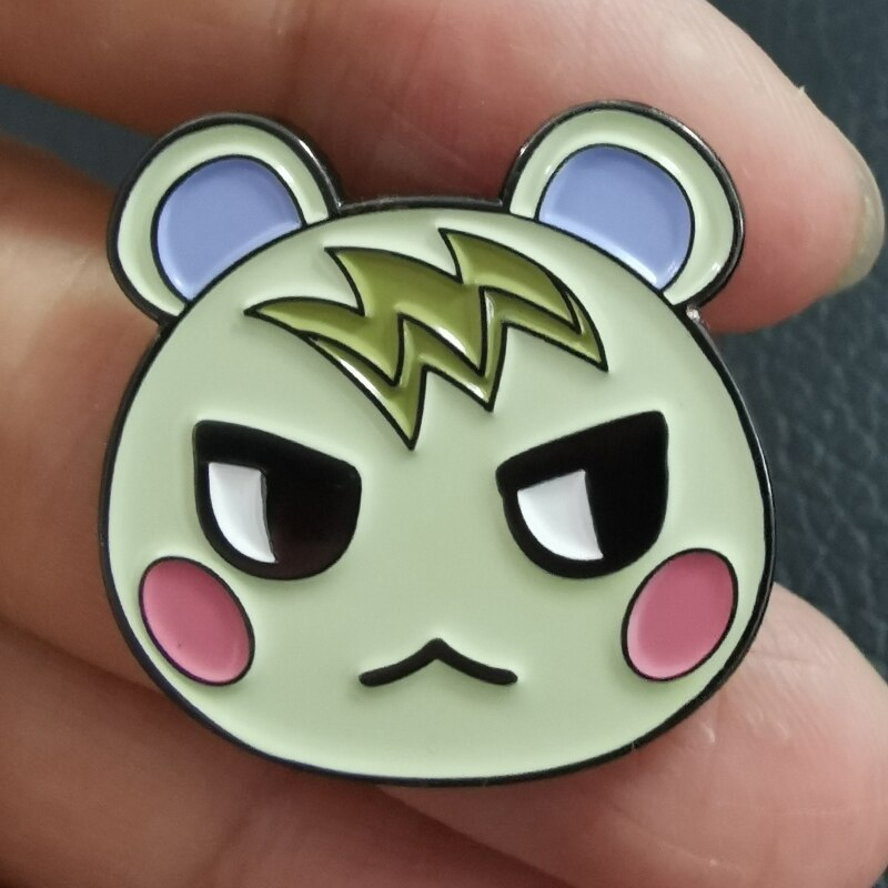 Broche para videojuego con pin de solapa de Marshal Animal Crossing Villager