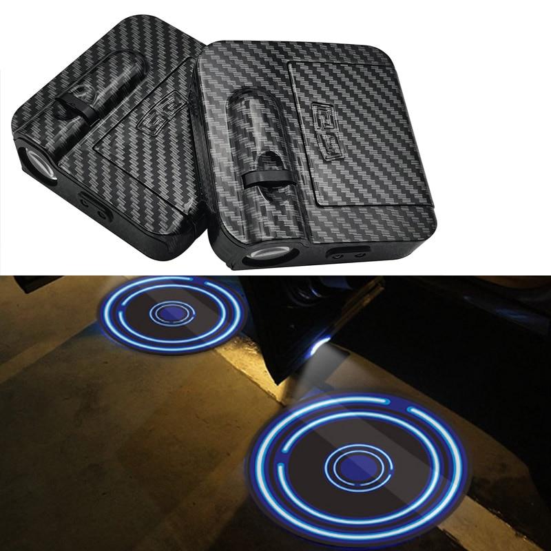 Универсальный светодиодный лазерный прожектор для двери автомобиля, с логотипом, привидением, тенсветильник, s, беспроводной декоративный ...