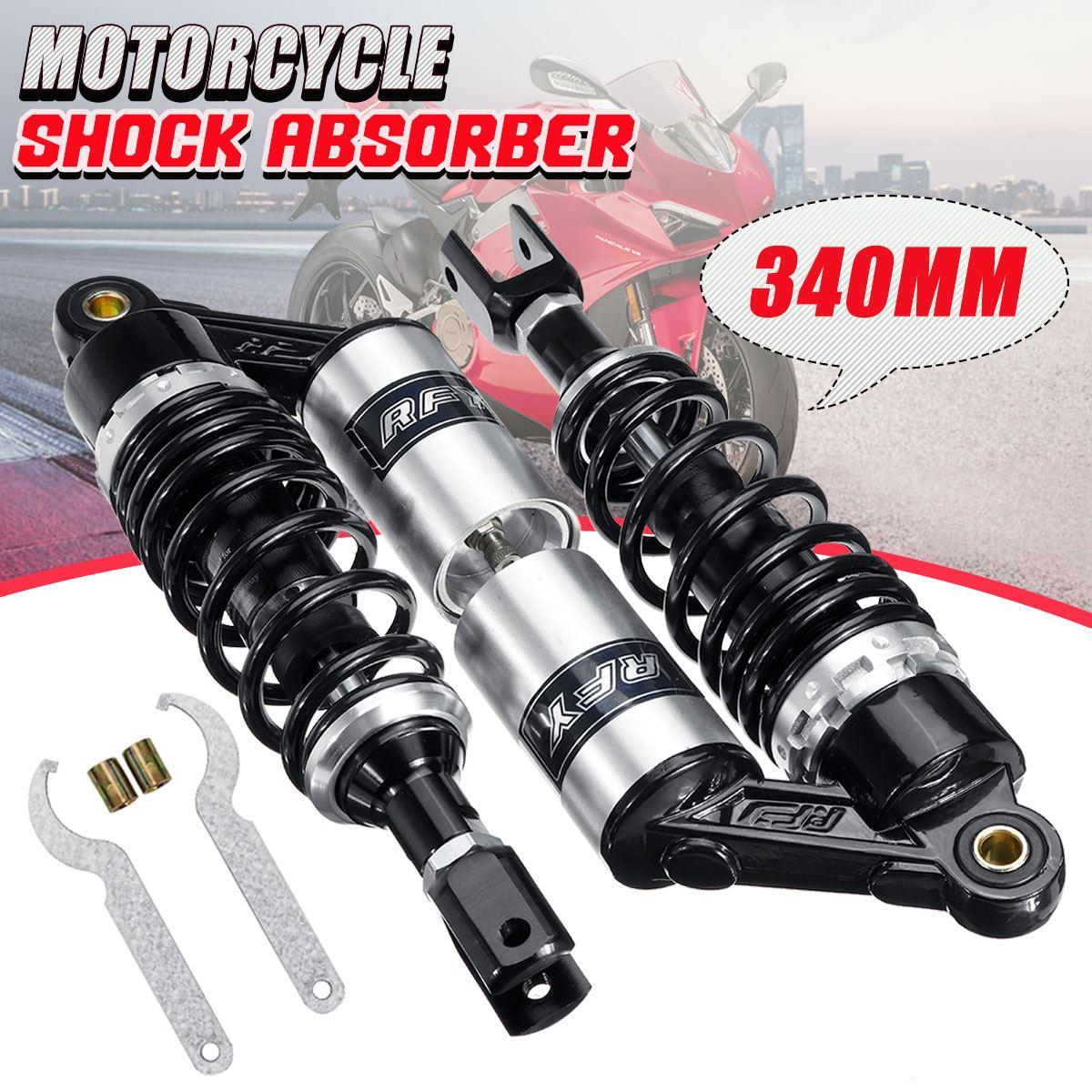 "Pair 13.5"" 340mm Motorcycle Air Shock Absorber Rear Suspension For 150CC-750CC Street Bike Go-kart Quad Motocross"