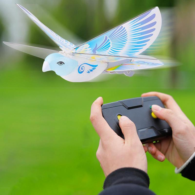 Flying Birds Electronic Mini RC Drone Toys Helicopter 235x275x70mm 360 Degree Flying RC Bird Toy 2.4 GHz Remote Control E-Bird