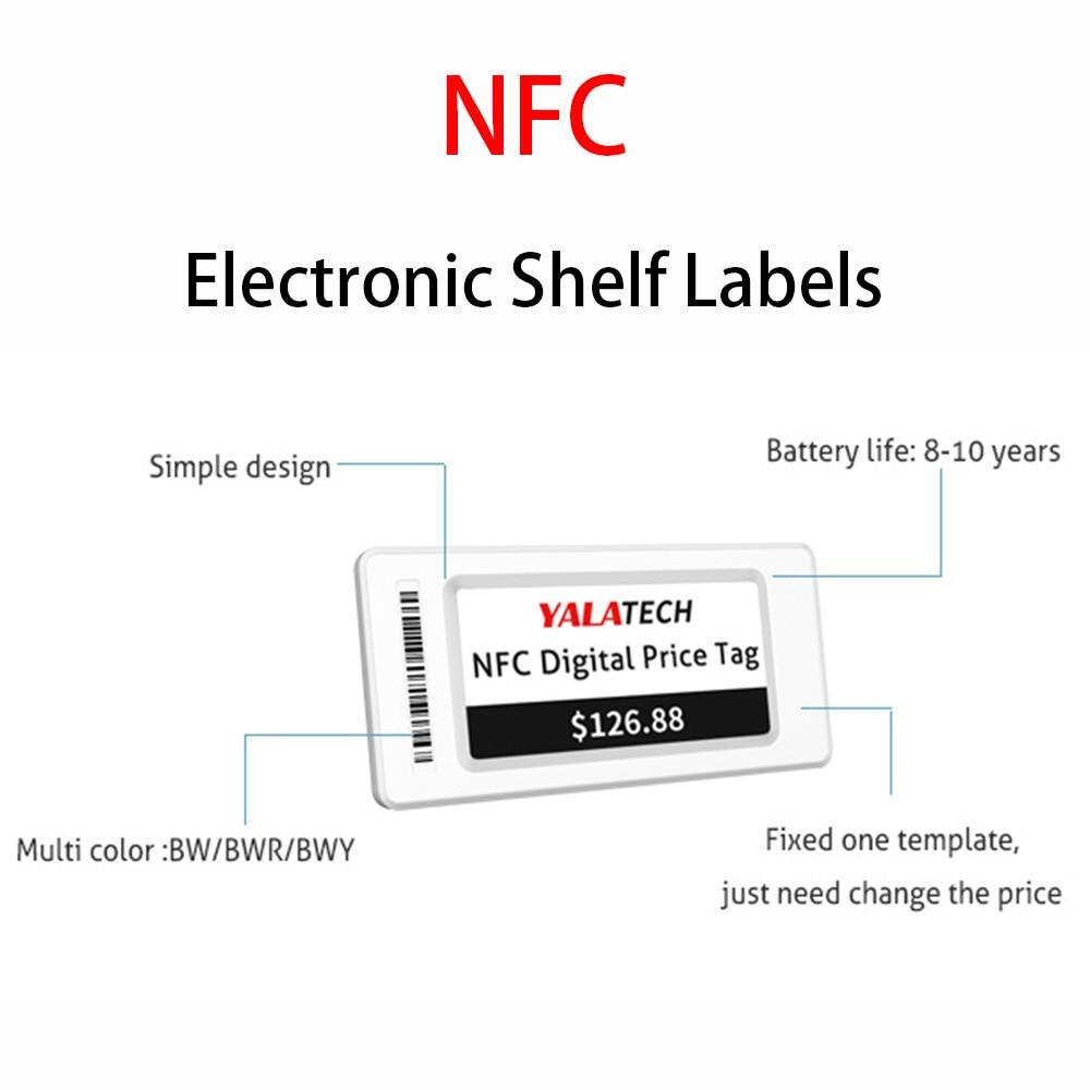 YalaTech ESL 7.5 inch Store Electronic shelf label NFC Esl Digital price tag for Intelligent Store enlarge