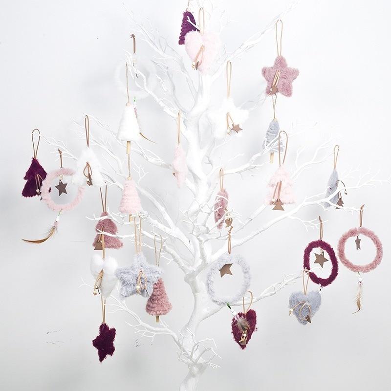1 Set /5 uds De peluche decoración De árbol De Navidad colgante...