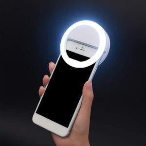 Макияж путешествия мини мобильный телефон светодиодный селфи кольцесветильник 2021 настраиваемый мягсветильник свет телессветильник свет яркость
