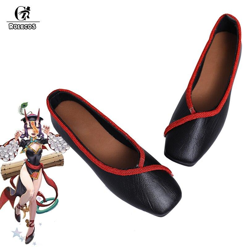 ROLECOS Game Fate Shuten douji Cosplay Shoes Zombie Shuten douji Cosplay Flat Shoes FGO Fate Grand Order Women Black Shoes