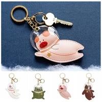 Креативные Брелоки для ключей с космонавтом, высший класс, кожаный брелок для автомобиля, милая сумка для студенток, украшение для подарка, ...
