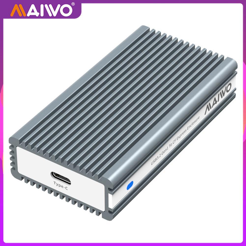 MAIWO K1685CF CF Express Card Reader Aluminum Alloy High Speed 10Gbps Type-C GEN2 Compact Flash Memory Card Adapter