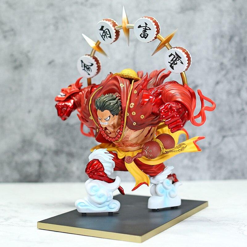 Uma peça engrenagem quarto macaco d luffy kabuki ver. Figura gk estátua de palha chapéu luffy modelo brinquedo