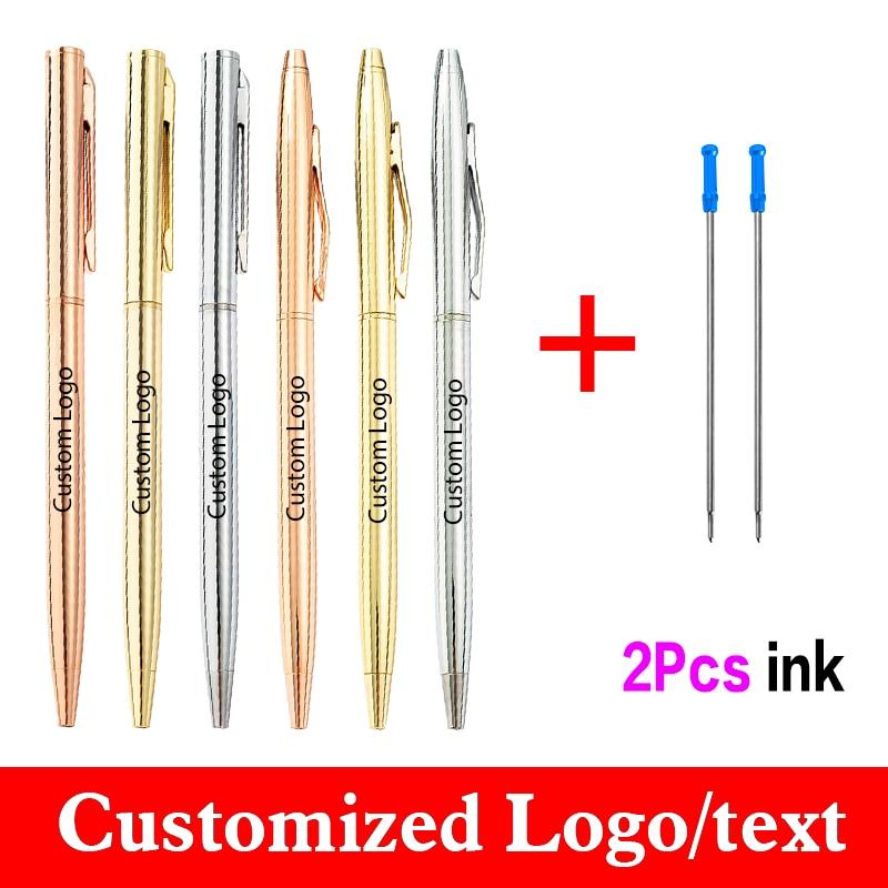 Шариковая ручка New Style Rose золотая металлическая ручка 3 шт./компл. Студенческая ручка с 2 чернилами, ручка с индивидуальным логотипом, оптовая ...