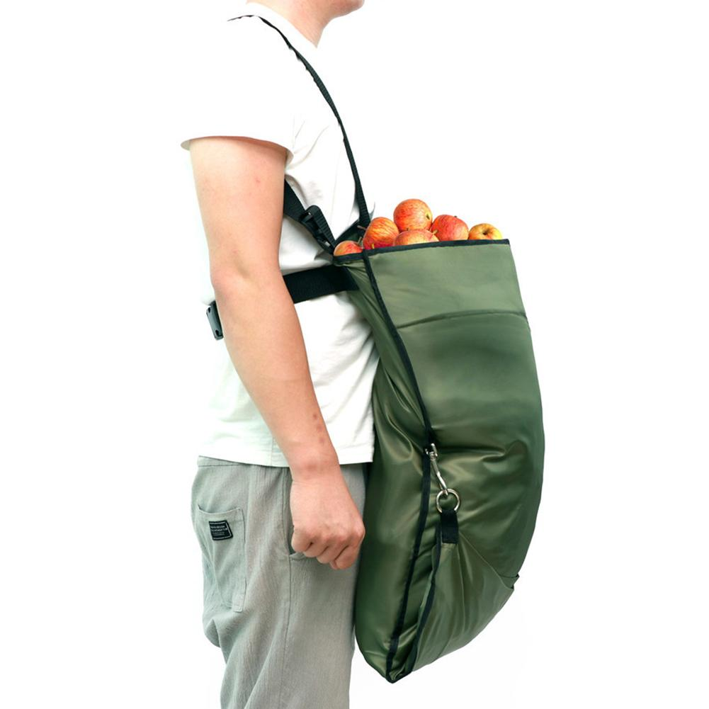 Delantal de recogida de jardín bolsa de recolección de frutas impermeable resistente a las manchas bolsa de almacenamiento para herramientas de frutero