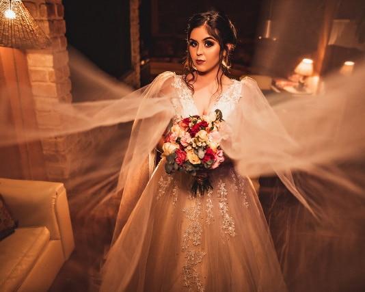 Sexy V cuello boda Vestido abierto atrás piso longitud sin mangas paquistaní vestido Novia diseño Vestidos De Novia Para Gordas