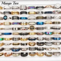 30pcslot fashion mix styles high quality stainless steel ring for men women party gifts wedding couple lover friends jewelry