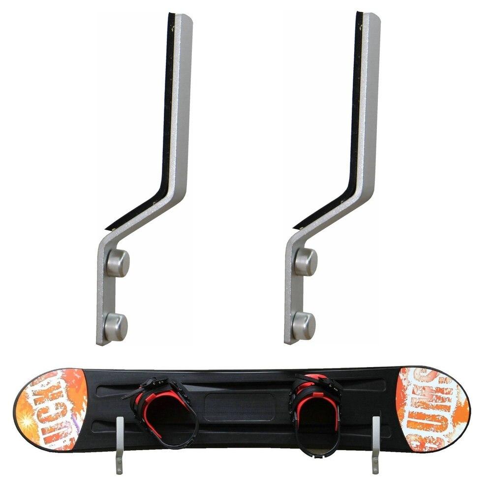 2Pk сноуборд настенный стеллаж для хранения Настенный выставочный стеллаж-алюминий, превосходное качество держатели для хранения