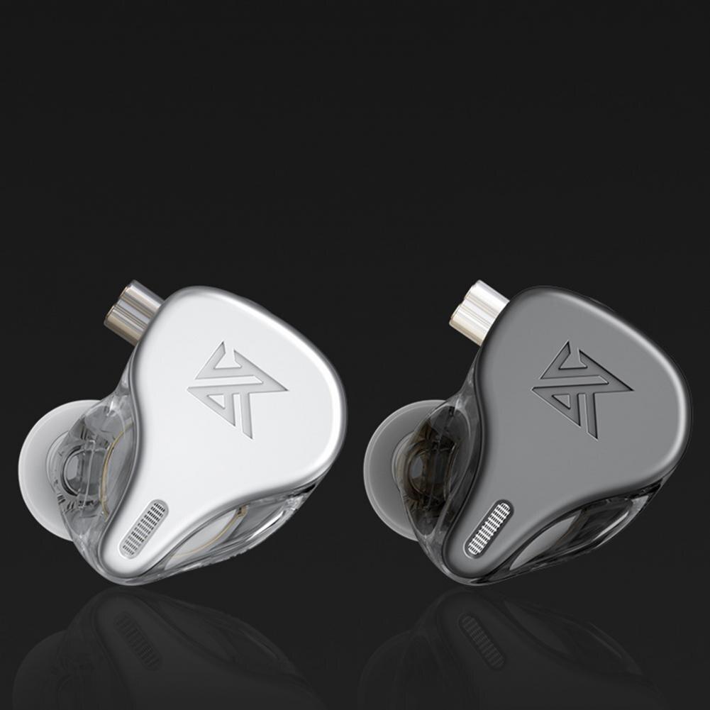 أحدث KZ DQ6 3DD ديناميكية محرك وحدة في الأذن سماعات HiFi الموسيقى سماعة رياضية مع 2PIN الفضة مطلي كابل KZ سماعات