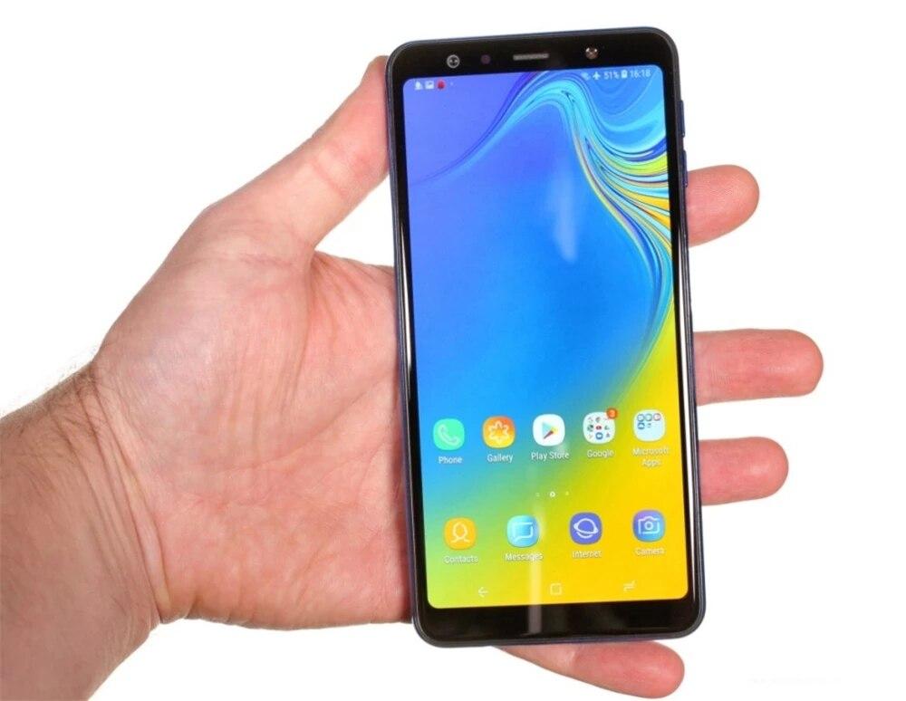 Перейти на Алиэкспресс и купить Смартфон Samsung Galaxy A7 (2018) A750F/DS, 6,0 дюйма, 4 + 64 ГБ, Восстановленный