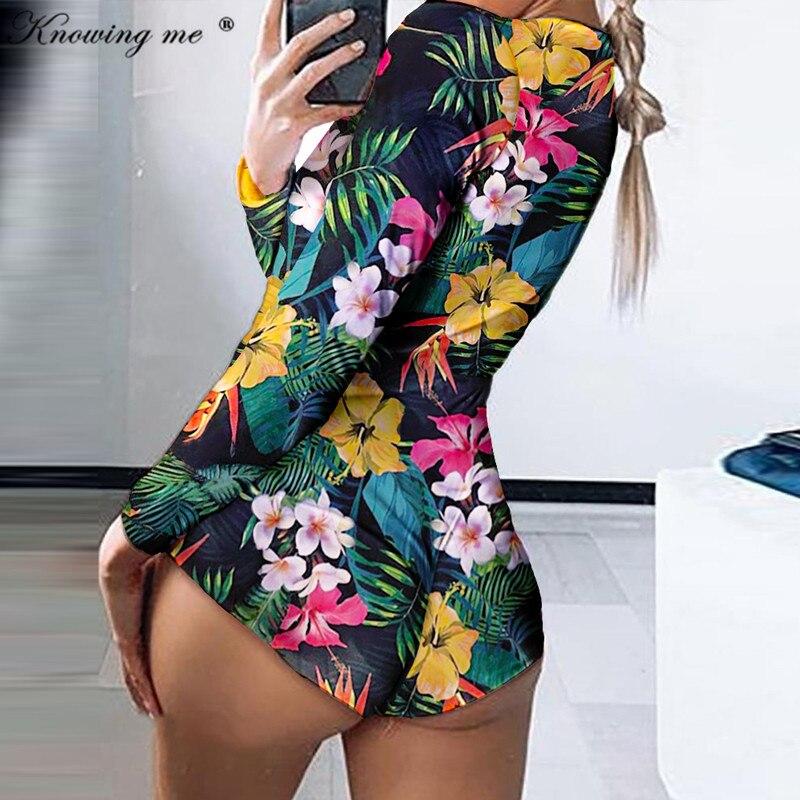 27 Colors Floral printed Bodysuit Romper Women sexy V neck Boat Anchor print Romper Elegant casual summer long sleeve Overalls