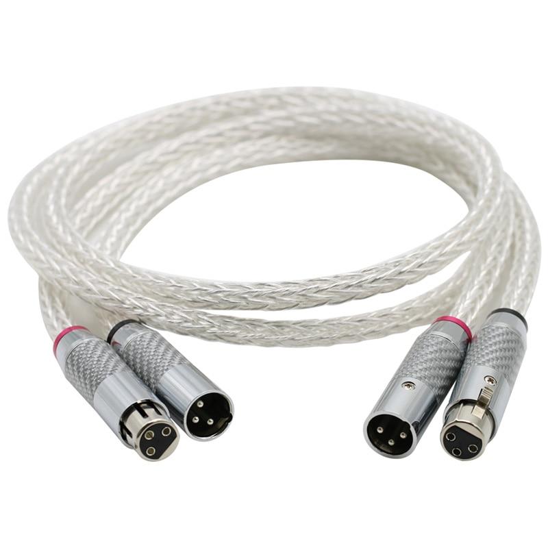 Cable de Audio de 16 hebras, conector XLR de fibra de carbono,...