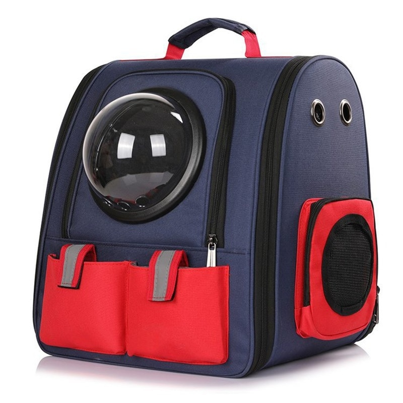Capsule spatiale grand sac à dos pour animaux de compagnie astronaute fenêtre bulle transportant sac de voyage respirant Capsule spatiale Transparent porte-animaux Ba