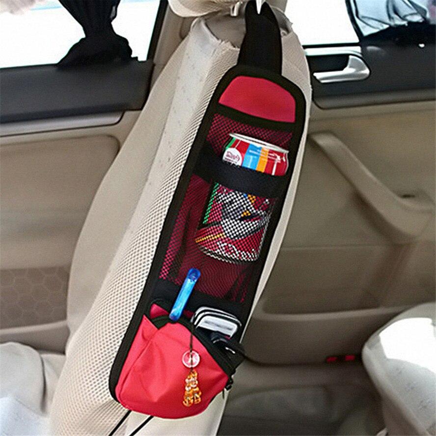 Bolsa de almacenamiento de coche Auto lateral de asiento bolsa de red para Toyota Tacoma Tercel Tiara Van Venza Yaris Hiace Prius V Hilux tierra Cruis